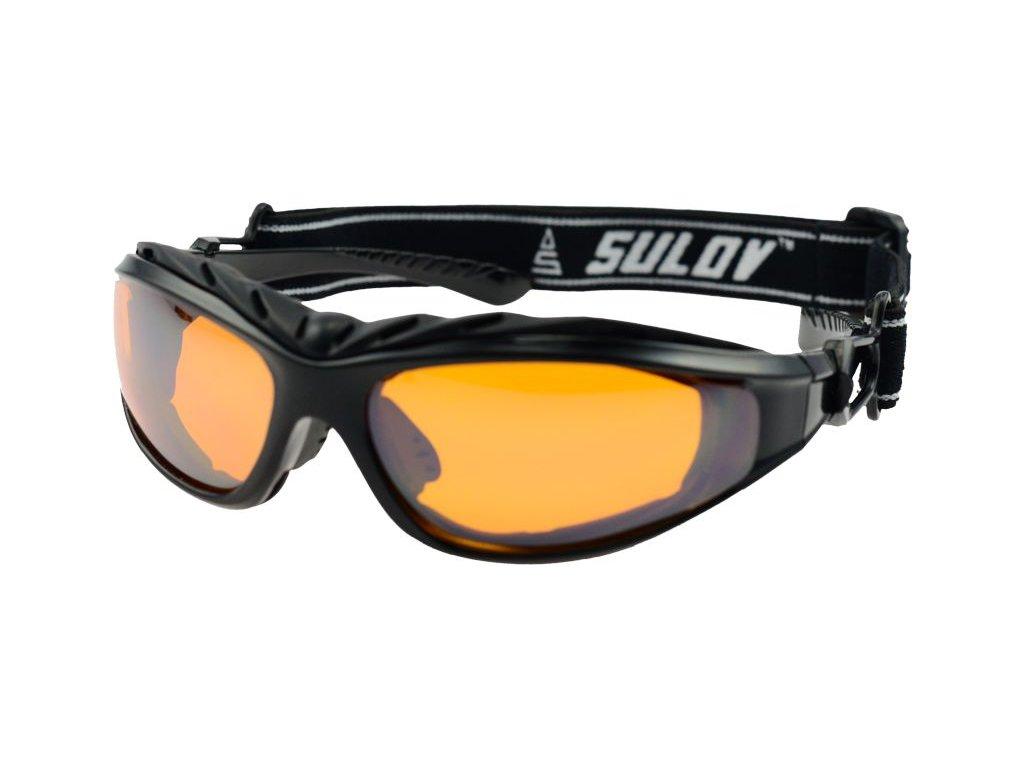Sportovní brýle SULOV ADULT II, černý lesk
