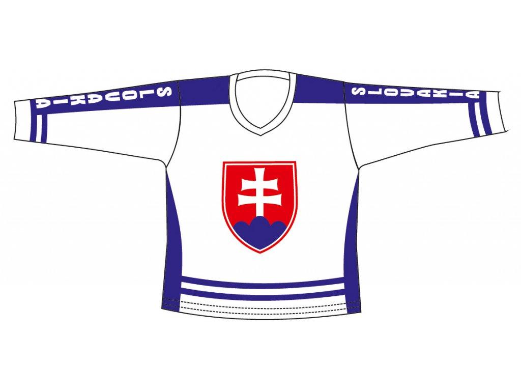 Hokej.dres SR 3 bílý M