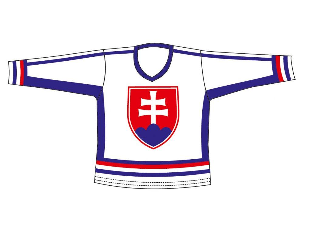 Hokej.dres SR 6 bílý M