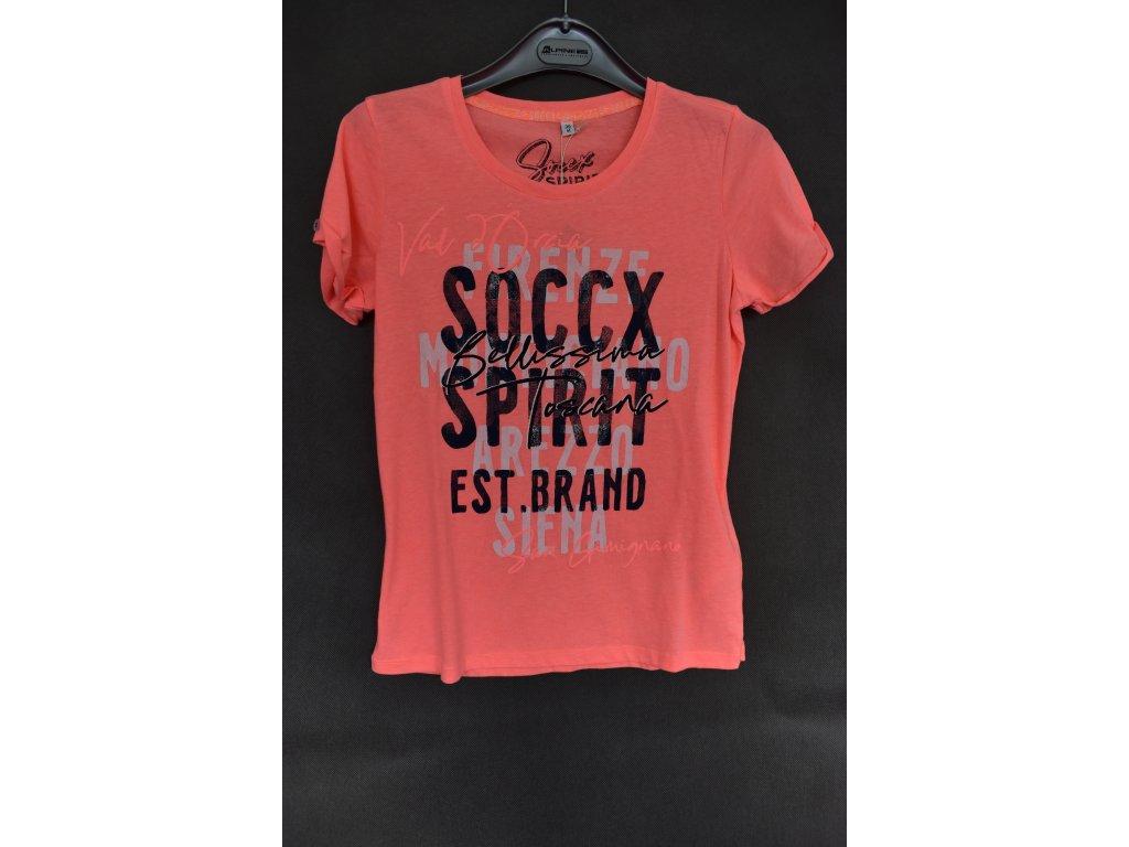 Tričko Soccx Neon Orange