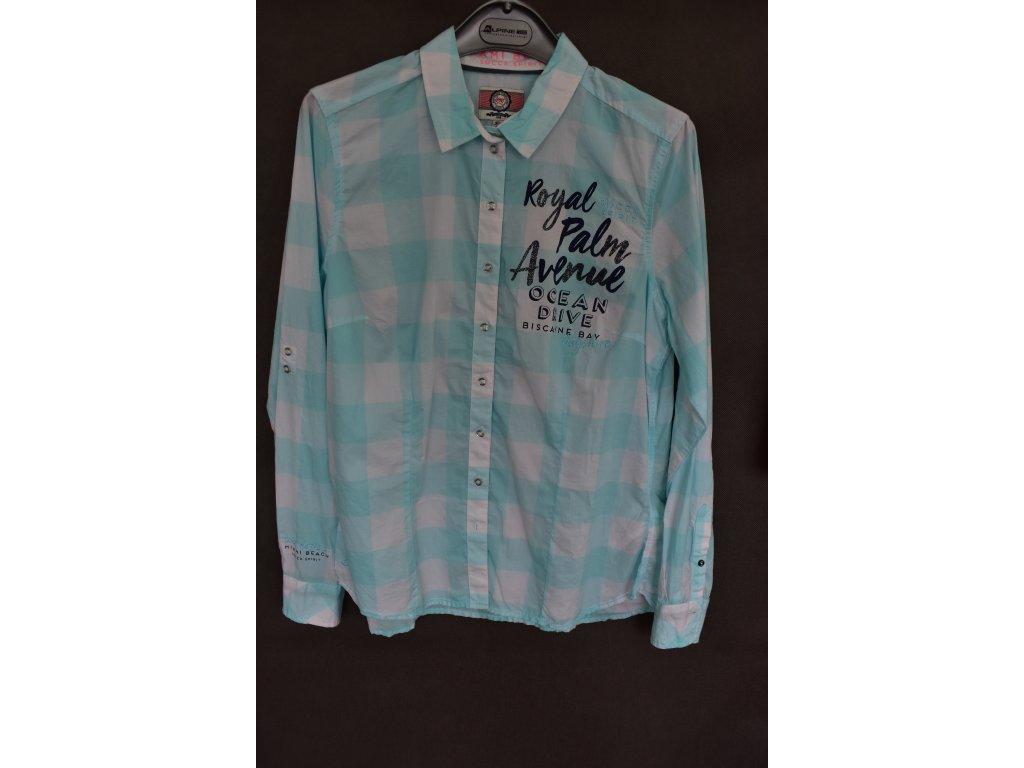 Košile Soccx Soft Aqua
