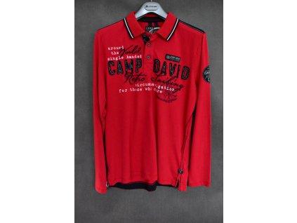 Polokošile Camp David Royal Red s dlouhým rukávem