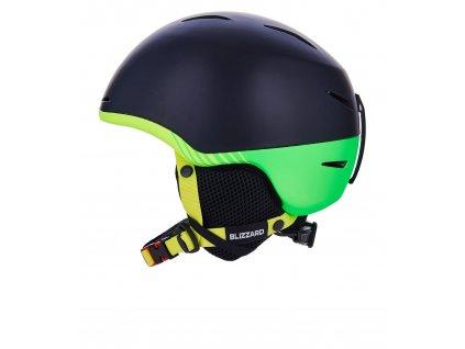 Lyžařská přilba Blizzard Speed Junior Black/Neon Green