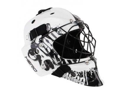 HERO COLOR brankářská maska na florbal white Senio