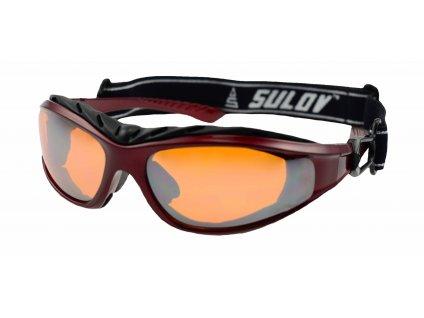 Sportovní brýle SULOV ADULT II, metalická červená