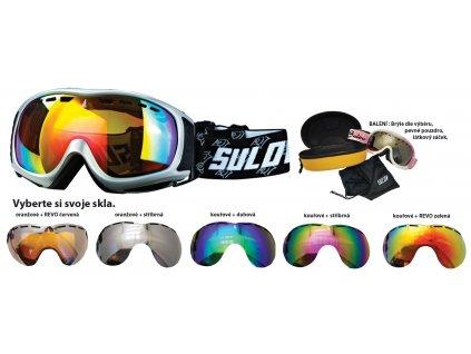 Brýle sjezdové SULOV SIERRA, dvojsklo, stříbrné