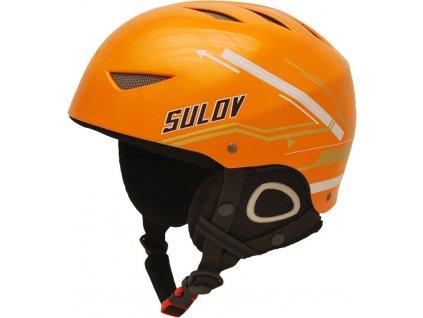 Lyžařská přilba SULOV AIR, vel. M (55-57), oranžová lesk-pruh
