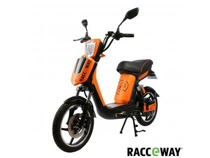 Elektroskútr RACCEWAY E-BABETA, oranžová-mat