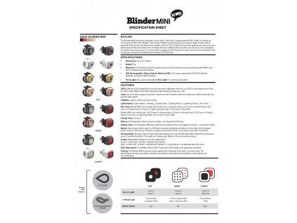 Blinder MINI Blikačka - Černá