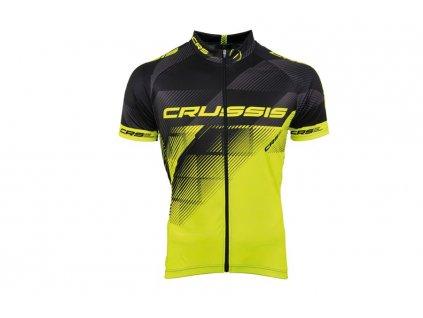 Cyklistický dres - černá / žlutá fluo, vel. XS