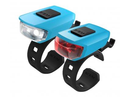 Osvětlení set KLS VEGA USB, sky blue