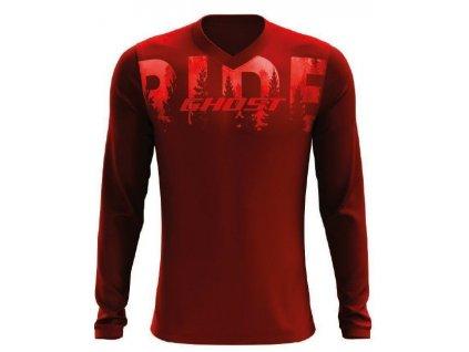 RIDE Line ➜ Dres Dlouhý rukáv - Dark Red / Red