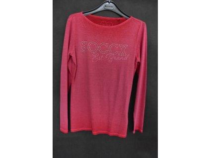 Tričko Soccx Creamy Red