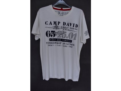 Tričko Camp David Aviaton Ivory