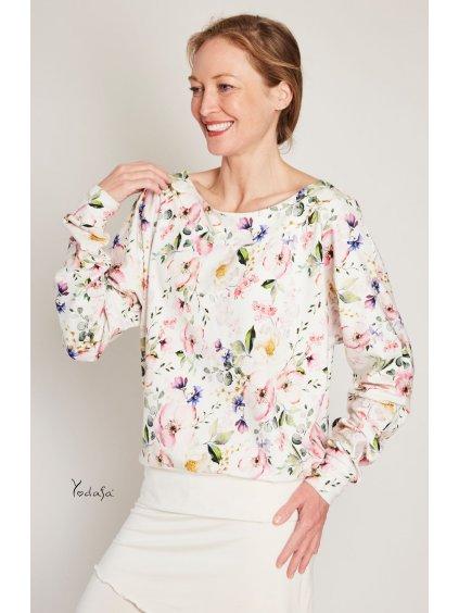 bavlněná mikina jabloňový květ