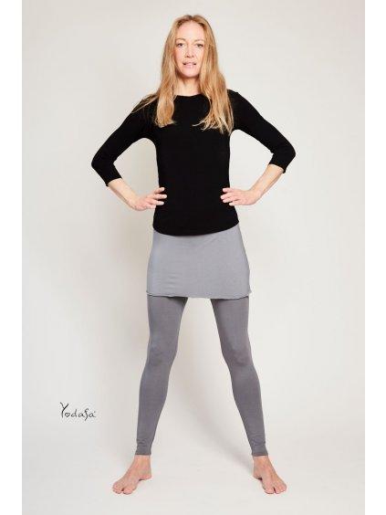 Legíny s rovnou sukní - šedé