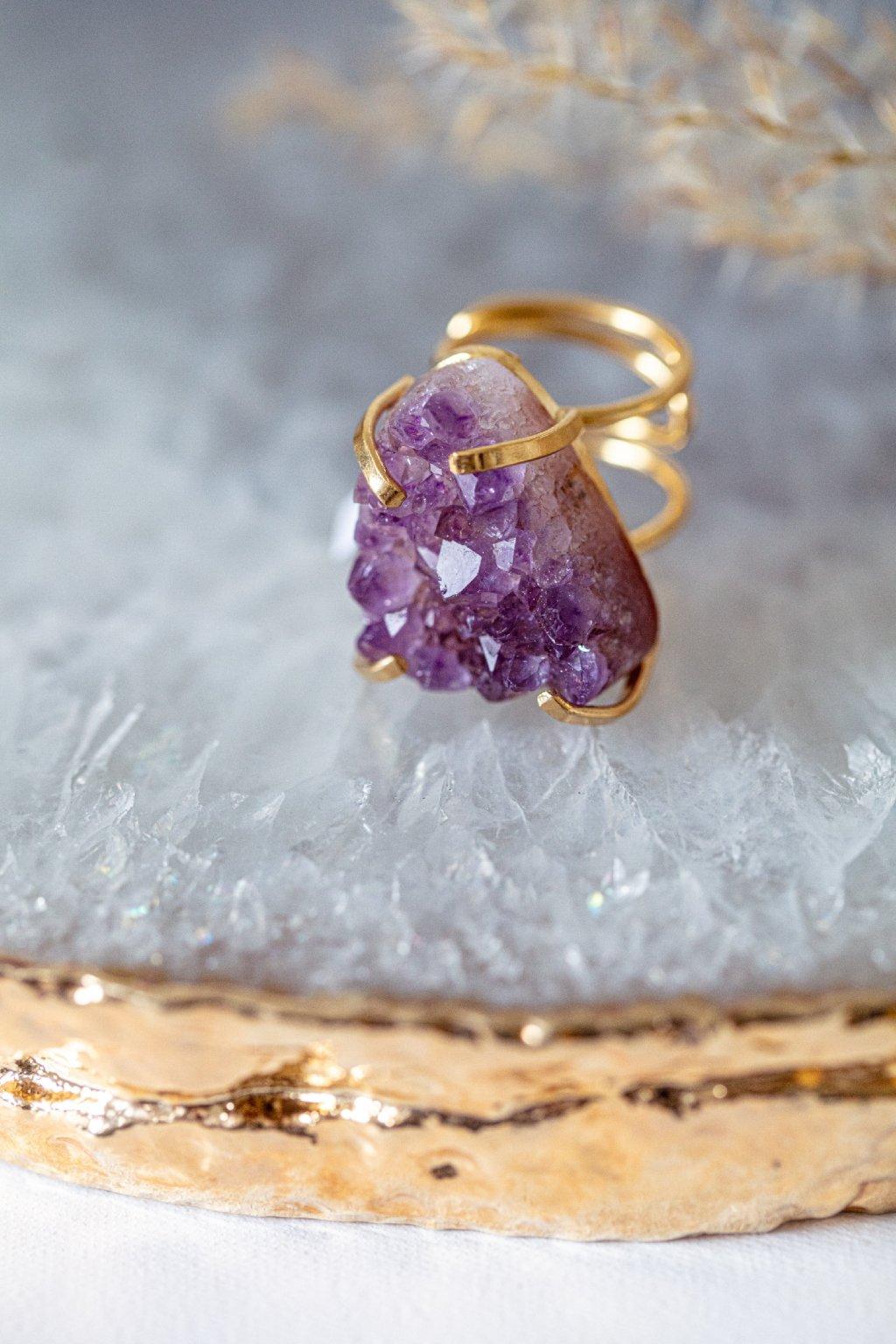 Prsten s drúzou - GOLD