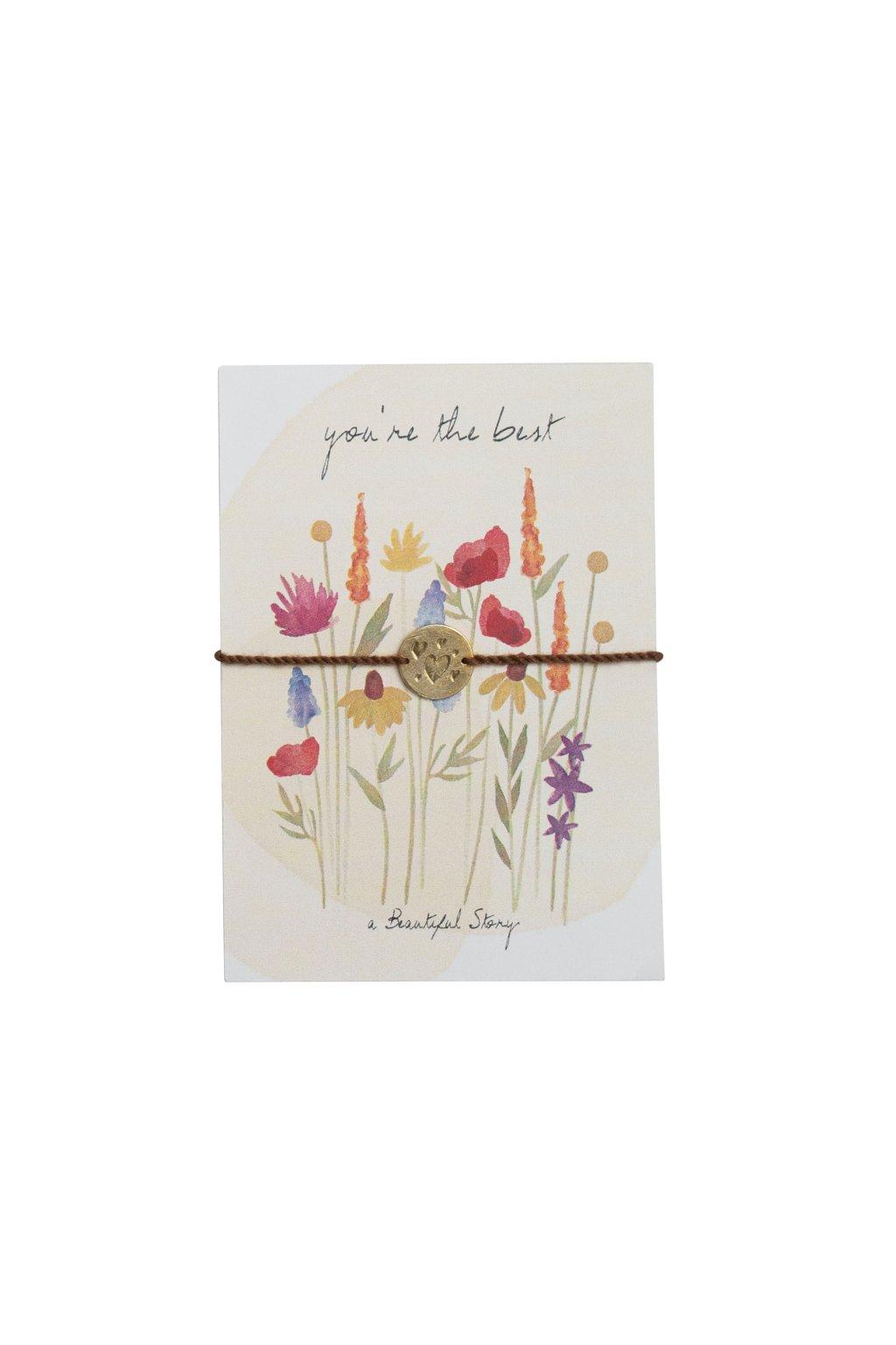 JP00060 Jewelry Postcard Flower Field