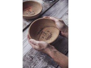 Dřevěná miska Namaste