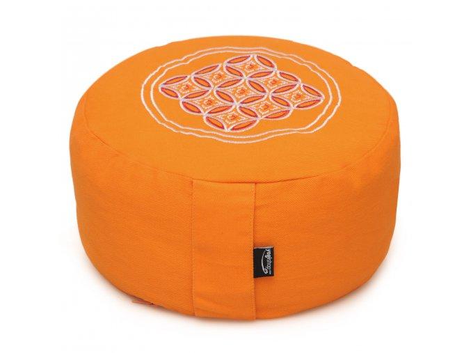 meditationskissen vintage rund orange 30cm web2000