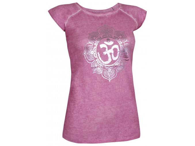 t shirt pigment dyed om wild berry front web2000
