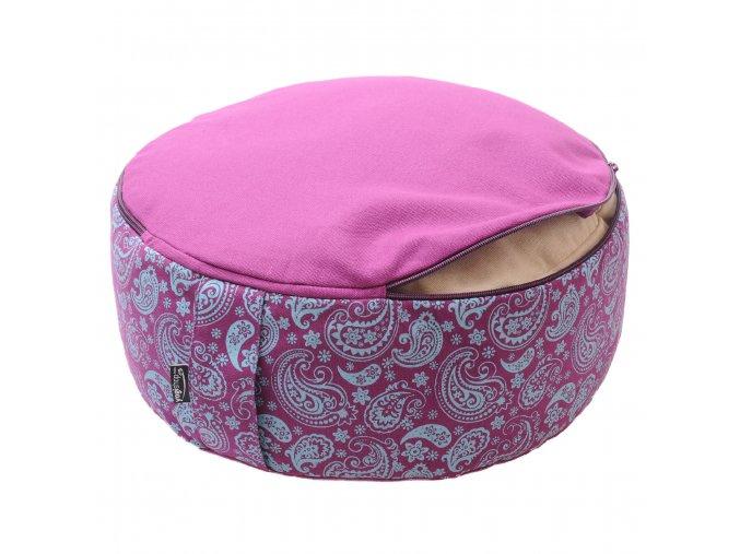 meditační polštář vintage fialový