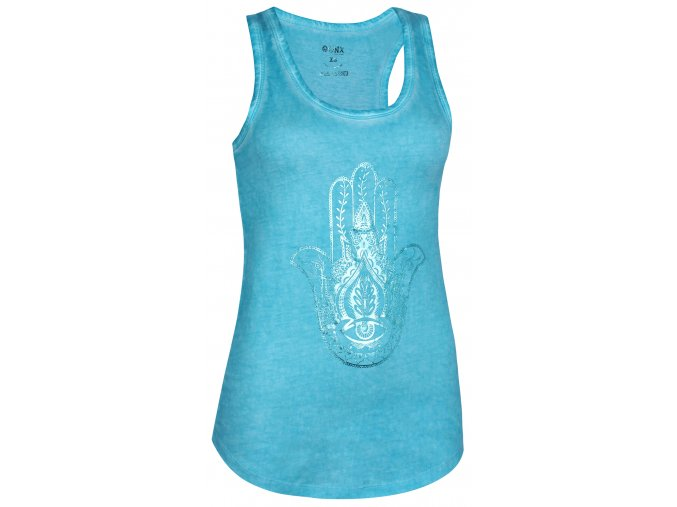 loose tank pigment dyed hamsa turquoise front web2000