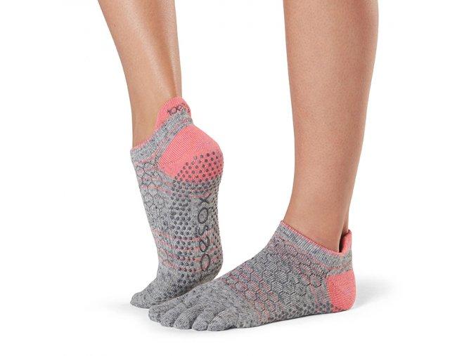 LOW rise prstové ponožky protiskluzové joga MANIAC