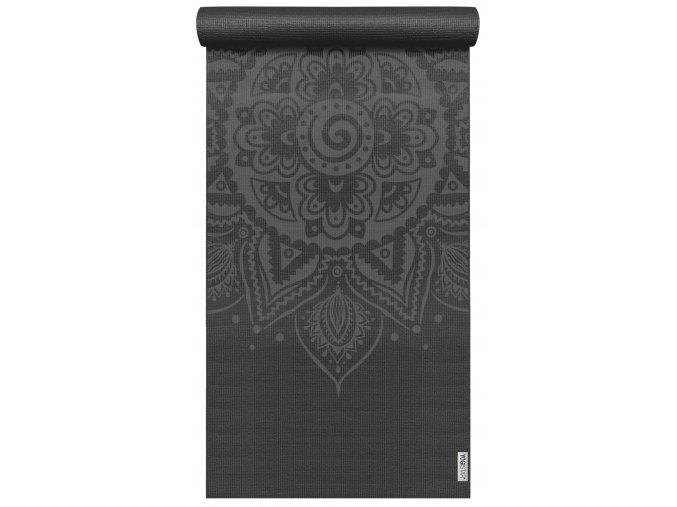 yogimat basic art collection spiral mandala zen black web2000