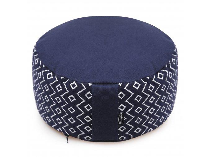 meditationskissen rund vintage cotton blue pattern web2500(1)