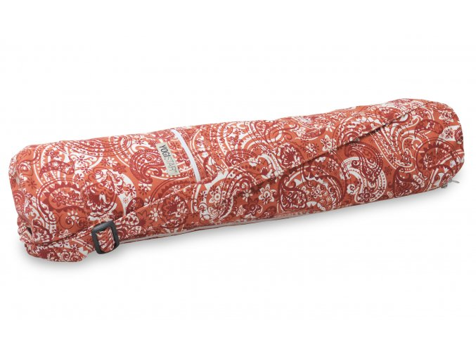 yogibag basic zip art collection paisley orange red front web2500