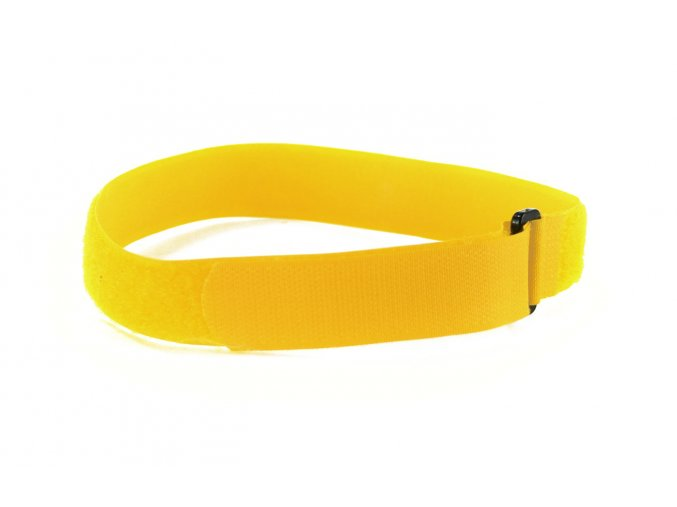 upínací pás na joga podložku žlutý