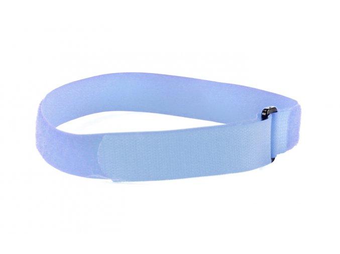 upínací pás světle modrý