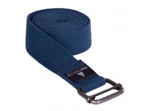 pás na jógu tmavě modrý, kovová přezka