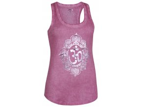 yoga tank pigment dyed om wild berry front web2000