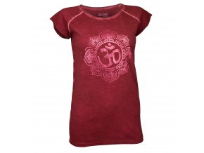 yoga t shirtpigmentdyedom red