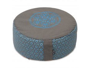 meditationskissen rund vintage cotton taupe turquoise web2000