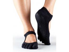prstové protiskluzové ponožky Bella černé