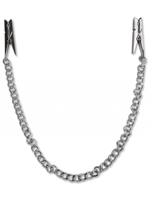 Svorky na bradavky s řetízkem  (ve tvaru kolíčků) Pipedream