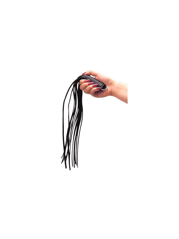 Kožené důtky s třásněmi ZADO, 45 cm