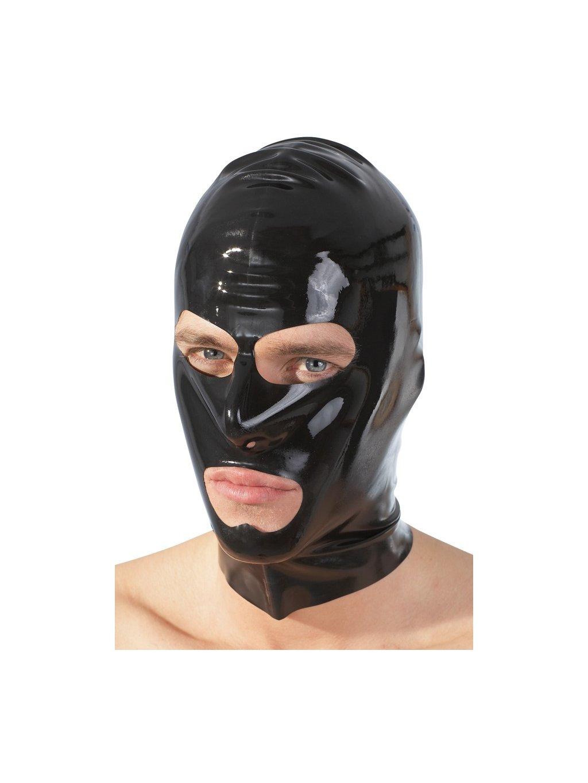 Latexová maska - černá, unisex