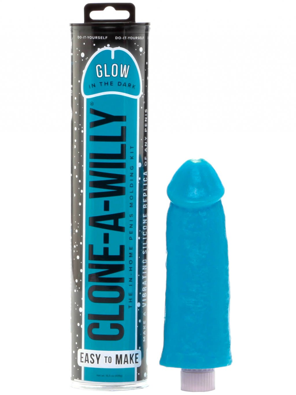 Sada pro odlitek penisu Clone-A-Willy Glow-in-the-Dark Blue  vibrátor