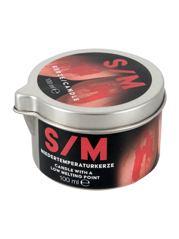 S/M svíčka v plechové dóze, 100 ml