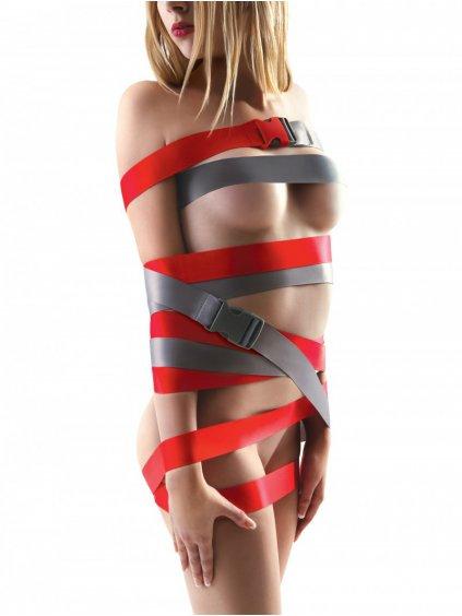 Červené bondage popruhy s přezkami Strap-Ease XL  2x 1,2 m