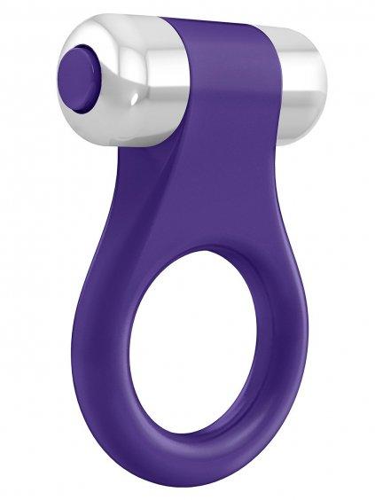 OVO B1 Vibrační erekční kroužek  fialový