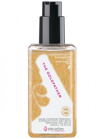Lubrikační gel MYSTIM The Goldfather  (elektrosex), 250 ml