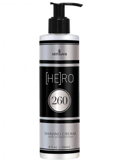 Krém na holení s feromony pro muže Sensuva  (HE)RO 260, 236 ml