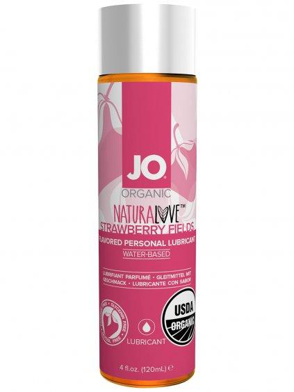 BIO Lubrikační gel System JO Organic NaturaLove Strawberry Fields  120 ml
