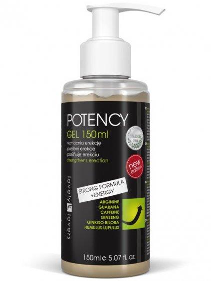 Lubrikační gel pro silnější erekci Lovely Lovers POTENCY  150 ml