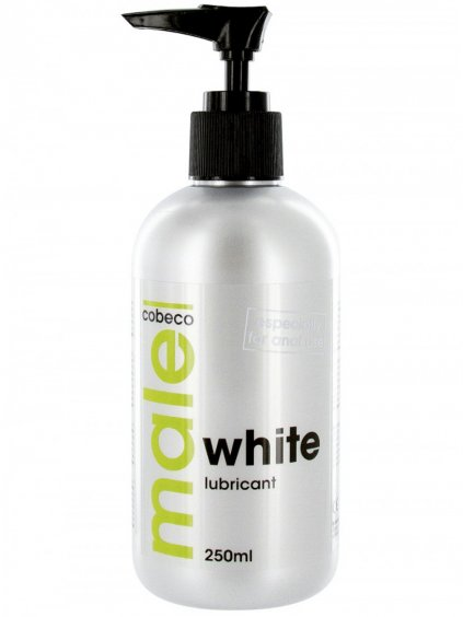 Bílý lubrikační gel MALE WHITE  extra hustý, 250 ml